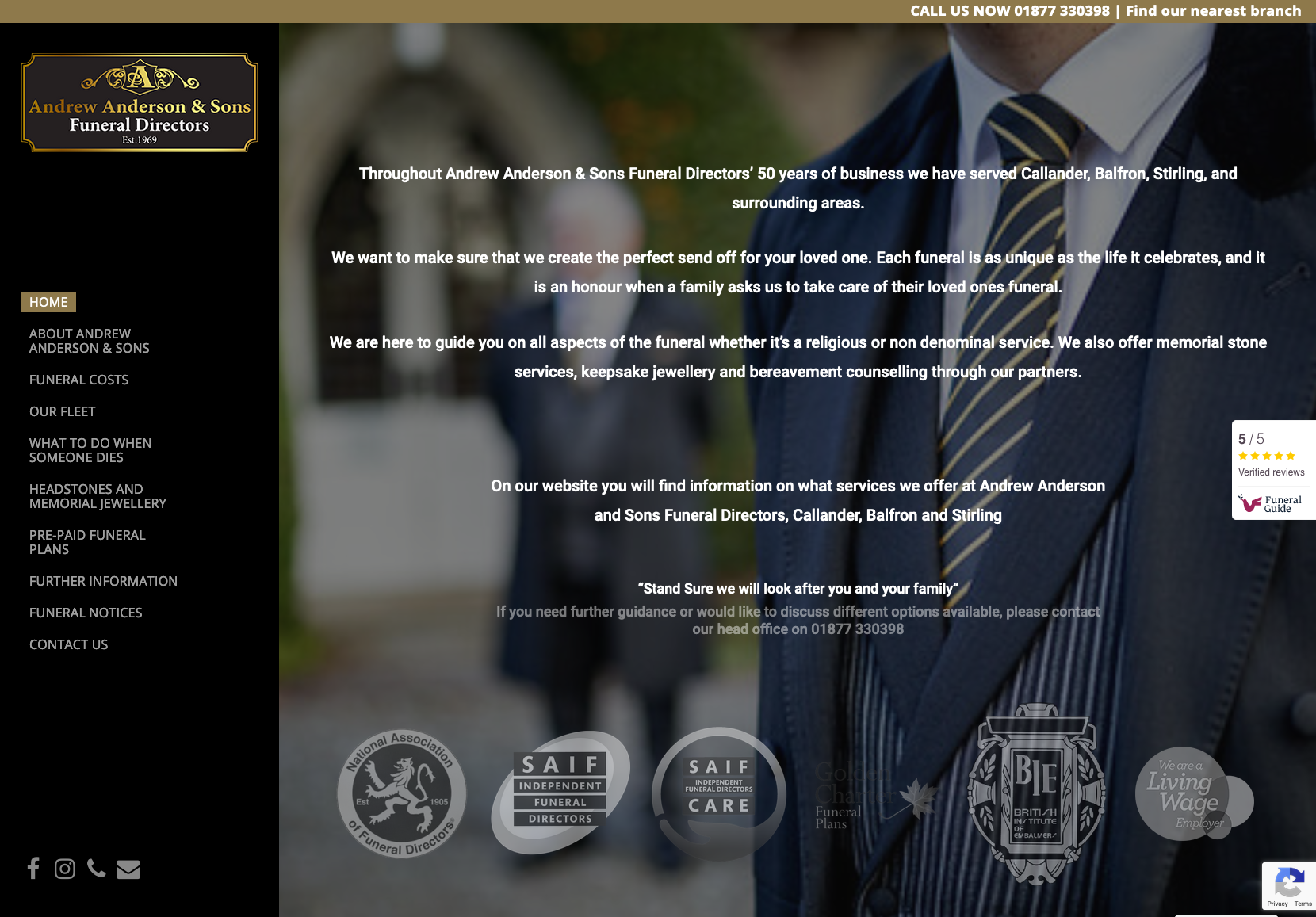 Andrew Anderson & Sons Funeral Directors - homepage - Apr2021